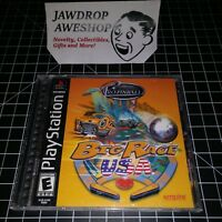 PINBALL BIG RACE USA PS1(GAME,CASE,MANUAL)USED,TESTED,WORKING.WEAR.PLAYSTATION 1