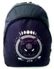 3e4559faed2 Wicca Synthetic Leather Cat Pentacle Women's Backpack Gothic Print Pagan  Design