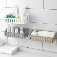 Bathroom Kitchen Shelf Suction Cup Rack Organizer Storage Shower Wall Basket