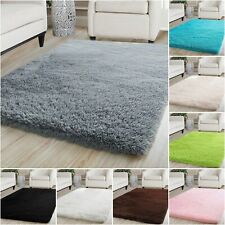 Fluffy Rugs Anti-Slip SHAGGY RUG Large Soft Floor Carpet Mat Living Room Bedroom