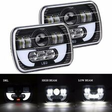 "2x Headlights LED 5x7"" 6X7"" Work Light for Chevy Truck Off Road Wrangler YJ Jeep"