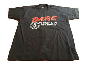 D.A.R.E To Keep Kids of Drugs 1980s 1990s Dare Tee Shirt Mens Size Large
