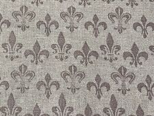 Fabric Fleur de Lyse Gray on Gray Cotton by the 1/4 yard BIN