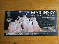 Mariinsky Ballet Flyer 2014. Royal Opera House.