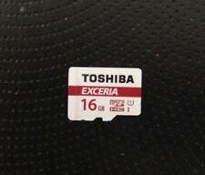 1 x USED 16GB TOSHIBA EXCERIA MICRO SD MEMORY CARD microsd