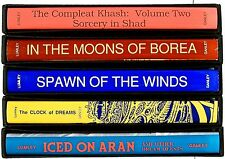 FOUR of five Brian Lumley LIMITED SIGNED SLIPCASED editions: ICED, KHASH & CROW