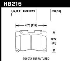 Disc Brake Pad Set-Twin Turbo, Turbo Front Hawk Perf fits 1993 Toyota Supra
