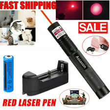 650nm Red Laser Pointer Single Beam Teaching Cat Toy Laser Pen+18650Battery+Char