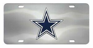 Fanmats NFL Dallas Cowboys Chromed Steel Diecast Emblem Front License Plate