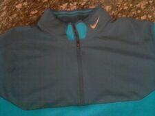 Nike Golf Tour Performance Men's Large 2 tone Blue Long Sleeve Shirt