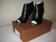 New Auth COACH LABELLE NEW Calf Leather Black Boots Sandals US 8.5