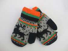 Childrens Novelty Fair Isle Mittens Reindeer Feature In The Pattern BN With Tags