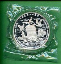 CHINA  1998  5 OZ  SILVER  50 YUAN  MACAU'S RETURN TO CHINA WITH BOX, COA