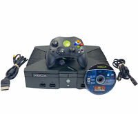 Original XBOX Black Console Bundle W/ controller, 1 Games Cords Tested & Working