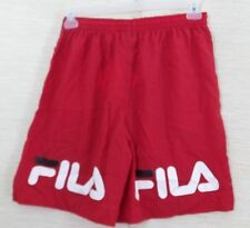 Vintage Fila Women's Butt Shorts Size XL Red  Nylon Spell Out Elastic Waist NWT