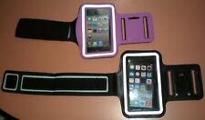 Lot of 2 Sport armband for Apple iPhone 5/5s/SE/5c, 1 Black & 1 Purple, NEW
