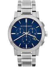 Burberry BU9363 Blue Dial Large Check Stainless Steel Men's Watch