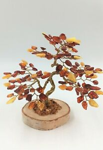 Amber Tree of Happiness 13cm 135 Natural Baltic Amber Stones