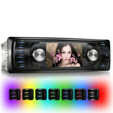 AUTORADIO MIT FARB-DISPLAY BLUETOOTH USB+SD=64GB MP3 MP4 AUX EQ 1DIN OHNE CD/DVD