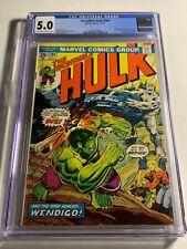 Incredible Hulk 180 CGC 5.0 OWW 1st Wolverine Cameo