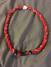 "BOSTON RED SOX Double Rope Team Titanium Red Necklace 22"" NEW! FAST! FREE SHIP!"