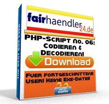 PHP-SCRIPT No. 06 Codieren und Decodieren Dekodieren Kodieren Software E-Lizenz