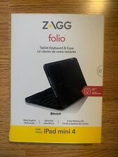Zagg Folio Keyboard + Case iPad Mini 4 Black NEW
