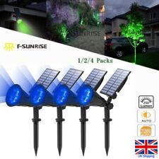 T-SUN 1/2/4 pack LED Solar Spotlight Waterproof Outdoor Security Garden BLUE UK
