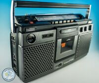 VINTAGE BOOMBOX RADIO CASSETTE PLAYER 3 BAND STEREO GHETTO BLASTER