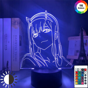 Zero Two Figure Night Light Anime Darling In The Franxx Lamp Kids Birthday Gifts