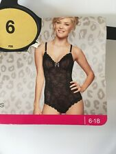 M&S Lace Body, New, Size 6, Black