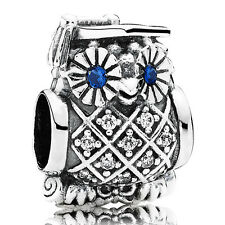 PANDORA Charm Element 791502 NSB Studium Eule Owl Silber Bead