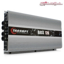 NEW Taramps Bass 12K 12000 Watts RMS 1 Ohm Car Audio Competition Amplifier