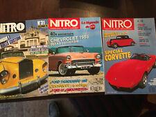 Lot de 3 magazines NITRO Rolls, Corvette, Chevrolet