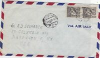 czechoslovakia 1966 airmail stamps cover ref 19677