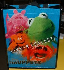DISNEY THE MUPPETS LIVE IN CONCERT WORLD TOUR 2014 TOTE BAG NEVER USED!