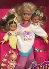 1994 Babysitter Teen Skipper doll with 3 Babies NRFB Barbie triplets
