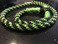 Paracord Dog Lead 4.5-5ft HandMade In Uk Strong Leash In Lime Green/black-Gold