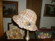 VINTAGE Christys London Made in England Tweed Country Cappello fodera  trapuntata 2911d18b3cee