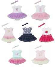 Little Me Baby Girls' Popover Tutu Bodysuit Dress with Headband