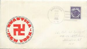 US 1948 Swastika, New York Cover with Matching Cachet