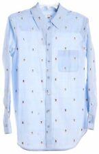 Equipment Blue Long Sleeve Button Down Shirt Top Size S