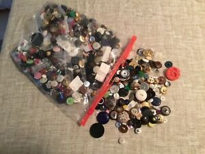 Buttons, Buttons, Buttons --- Almost 2 lbs Mixed Lot
