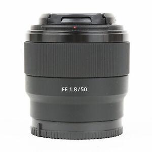 Sony FE 50mm F1.8 Lens + Caps - EXC