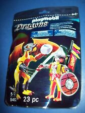 PLAYMOBIL DRAGONS SET #5462 Yellow DRAGON + Knight  new sealed 23 pc