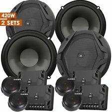 """JBL GX600C 6.5"""" 420 Watts 2-Way Car Audio Component Speaker 6-1/2"""" - 2 Sets NEW"""