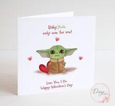 Baby Yoda Valentine's Card - Boyfriend Husband Wife Love you