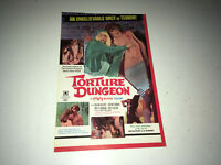 TORTURE DUNGEON Vintage Movie Pressbook 1969 Andy Milligan Gore Horror