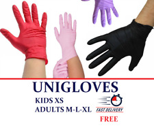 Nitrile Disposable Gloves Powder Free KIDS XS ✅Adults SM LXL ✅Extremely Cute ✅