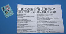 Lindberg Dodge L-700 Truck Tractor, Decals and Instructions 1/25 Scale